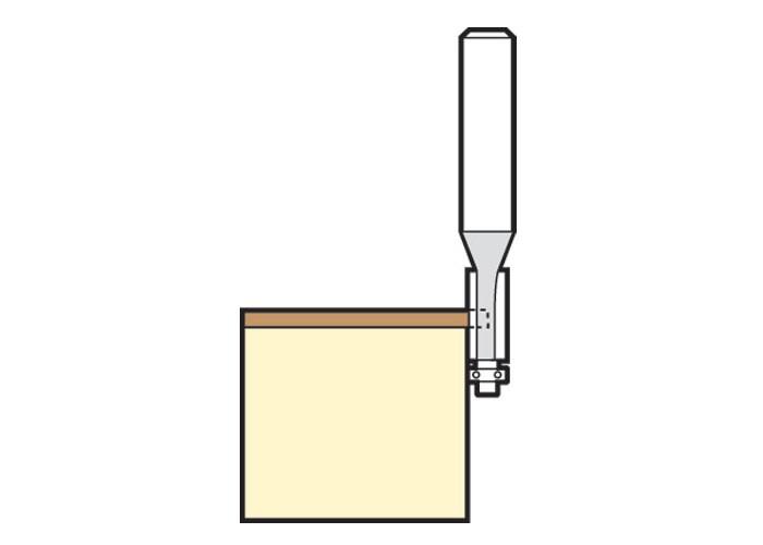 Mini Bündigfräser D 4,8 mm AL 11 mm S 1/4