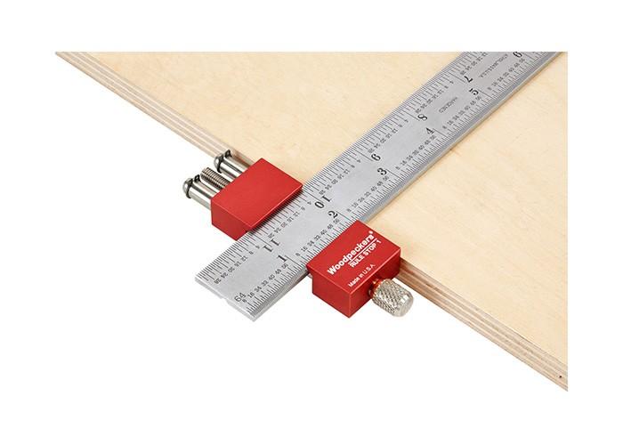 Verstellbarer Anschlag für Lineale bis 38 mm