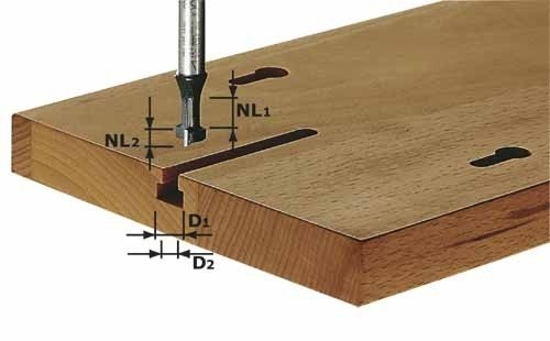 T-Nutfräser HW Schaft 8 mm HW S8 D10,5/NL13