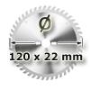 Kreissägeblatt <br/>Ø 120 x 22mm