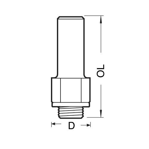 Hochleistungsaufnahmedorn M12