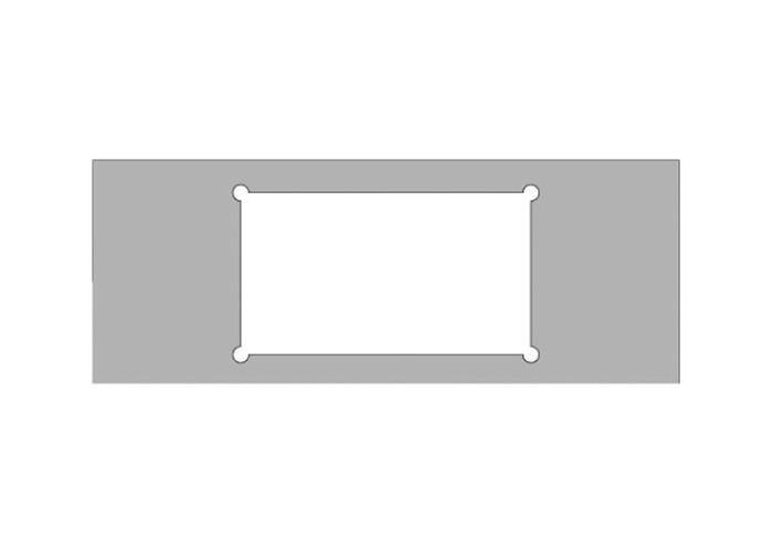 Schablonenrahmen f. Schubladen, CRCS-005