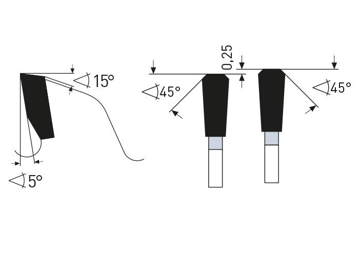 Kreissägeblatt HM 450 x 3,5/2,8 x 30 mm, Z=132
