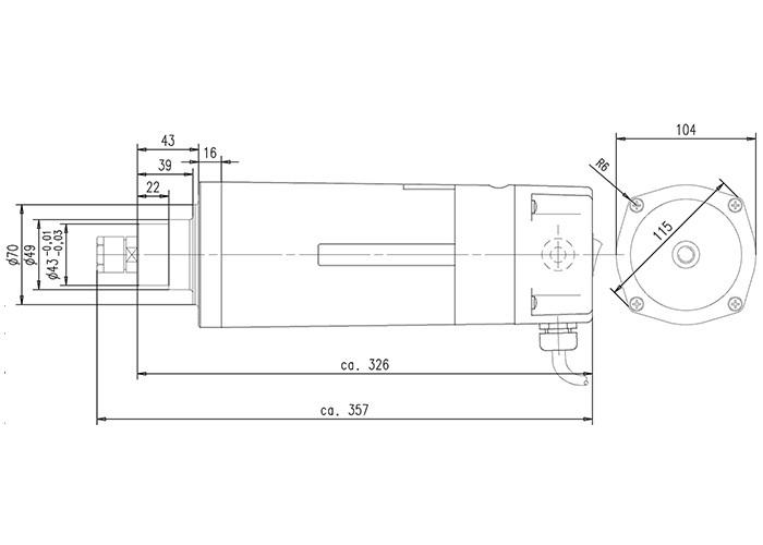Fräsmotor Suhner UAL 23 RF