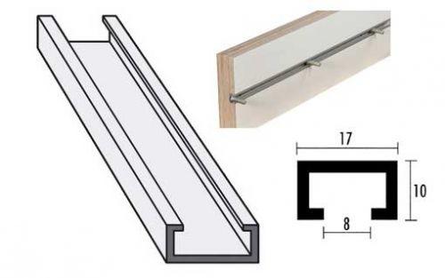 aluminium profilschiene. Black Bedroom Furniture Sets. Home Design Ideas