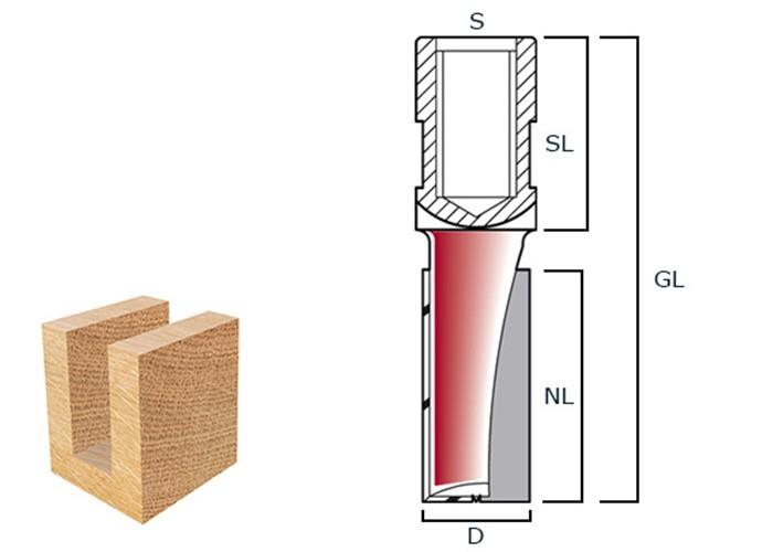Nutfräser HW 18x25mm Innengewinde M12x1