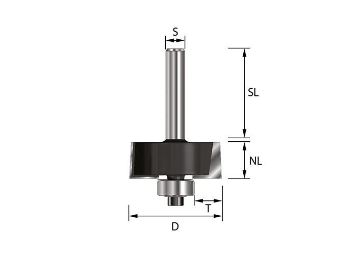 Falzfräser HW (HM) mit Kugellager Ø38 mm