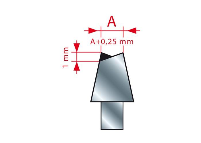 Ritzsägeblatt HM 150 x 3,4-4,6/2,2 x 30 mm, Z=36