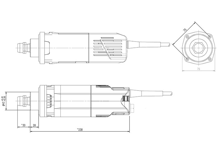 Fräsmotor Suhner UAK 30 RF