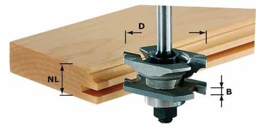 Profil-Nutfräser HW Schaft 8 mm HW S8 D46 x D12-NT