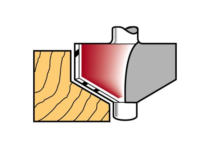 Fasefräser mit Anlaufzapfen HW (HM)