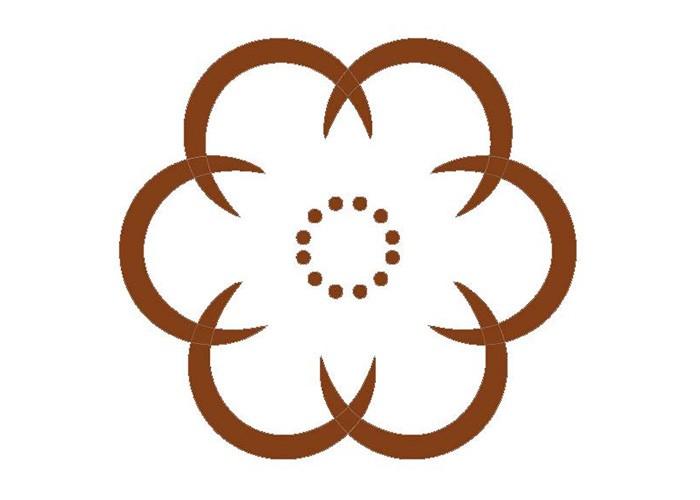 Rosettenfrässchablone Blume