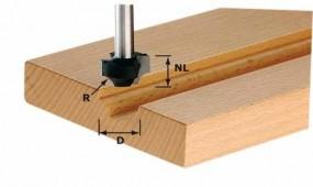 Viertelstabfräser HW Schaft 8 mm HW S8 D23/R6