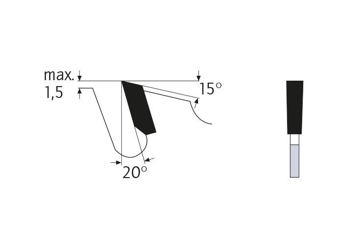 Kreissägeblatt HM 350 x 3,5/2,5 x 30 mm, Z=16