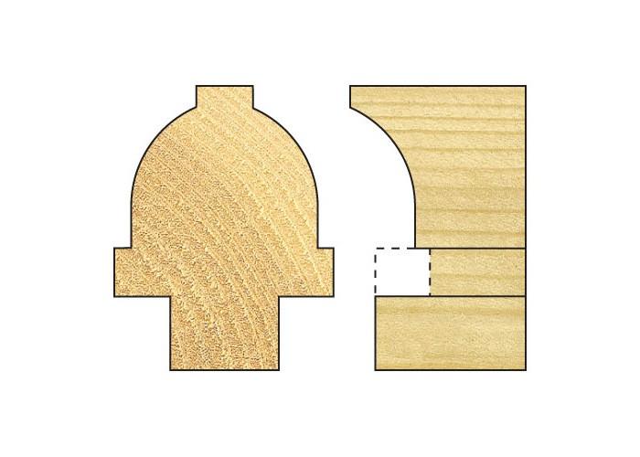 Abrundfräser m. KL f. Fensterkreuze