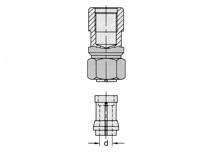 Spannzangenfutter M12x1, Ø12mm