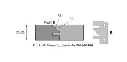 HM-Profil- & Konterprofilmesser Typ B