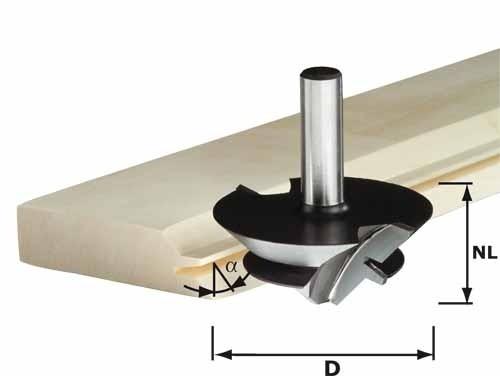 Gehrungsverleimfräser HW Schaft 12 mm HW D 64/27 S12